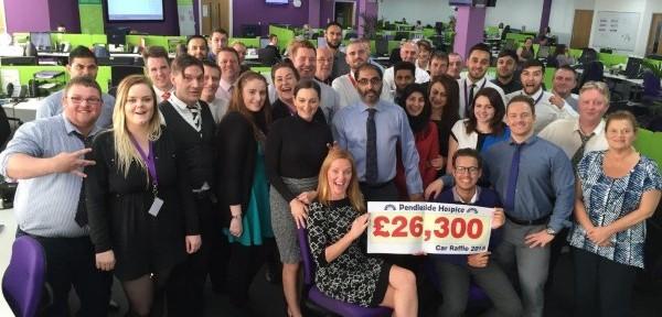 Raffle raises £26k for Pendleside Hospice