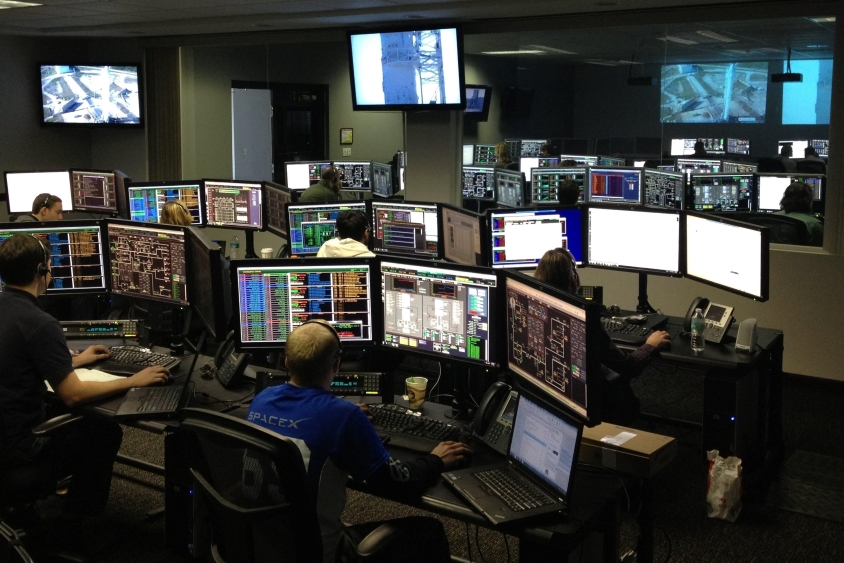 Security being monitored on multiple screens