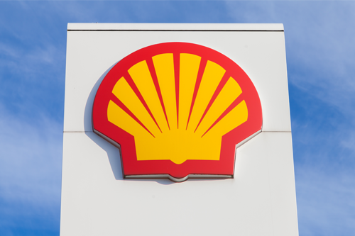 shell fuel station sign