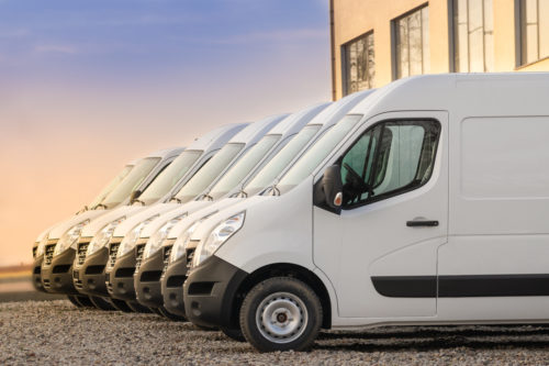 Image of a row of commercial vehicles