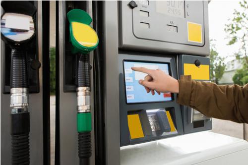 Man using fuel card