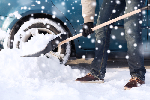 Driver preparing fleet for winter