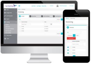 Screenshot of My Fleet Hub invoicing tab