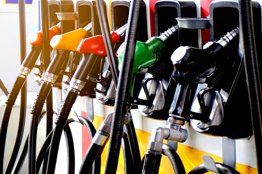 Selection of fuel filling nozzles at petrol station
