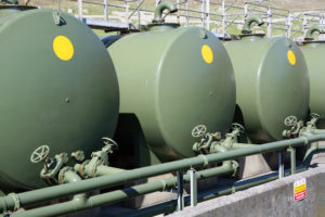 Fuel Oil Tanks in military green