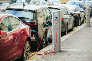 EVs charging up at public charging points
