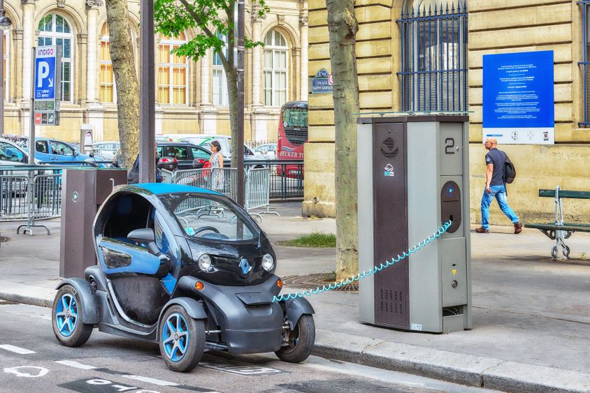 Personal Light Electric vehicle charging