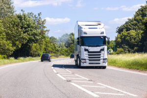 HGV driving in daytime