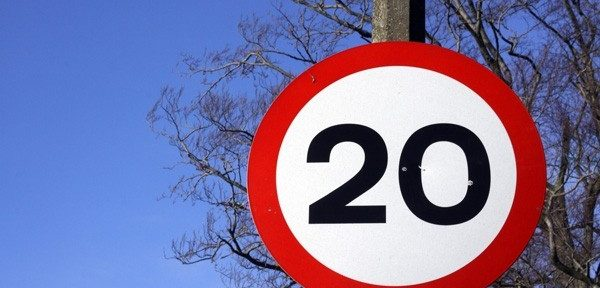 It's 20 mph for a reason: Cut speed to increase safety